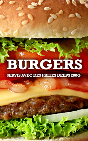 Bonici Burger burgers fait maison à emporter ou en livraison gratuite